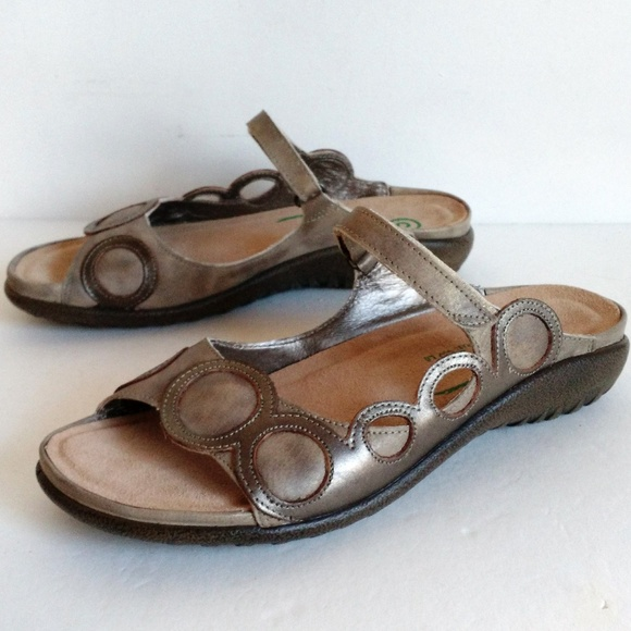 09e69fb521c5 NAOT Metallic Leather slip on sandal 5.5 - 6.5